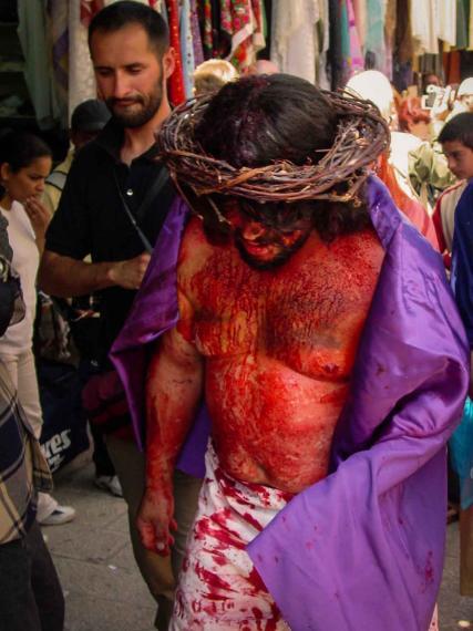 jesus der hænger på korset